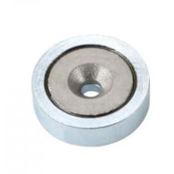 Uppokantareikäinen POT-magneetti 25x7mm (SmCo)