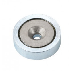 Uppokantareikäinen POT-magneetti 40x8mm (SmCo)
