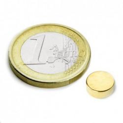 Kiekkomagneetti (kulta) 8x3mm