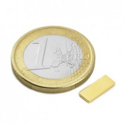 Suorakaidemagneetti (kulta) 10x4x1mm