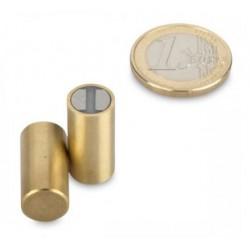 SmCo-pitomagneetti (messinki) 10x20mm