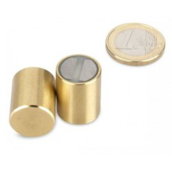 SmCo-pitomagneetti (messinki) 16x20mm