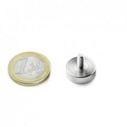 Ulkokierteinen POT-magneetti 16x5mm/M4x8