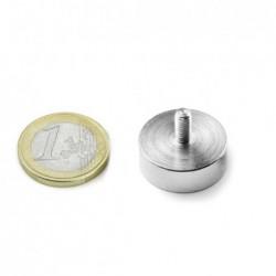 Ulkokierteinen POT-magneetti 20x7mm/M4x8
