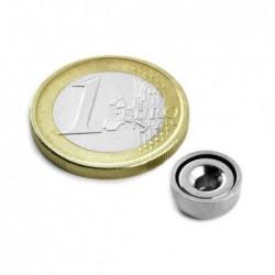Uppokantareikäinen POT-magneetti 10x4