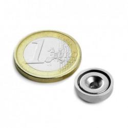 Uppokantareikäinen POT-magneetti 13x4