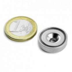 Uppokantareikäinen POT-magneetti 20x6mm