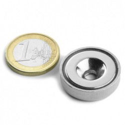 Uppokantareikäinen POT-magneetti 25x7mm