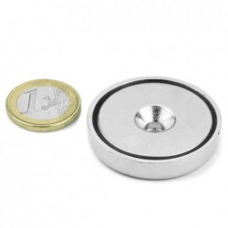 Uppokantareikäinen POT-magneetti 40x8mm