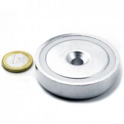 Uppokantareikäinen POT-magneetti 60x15mm