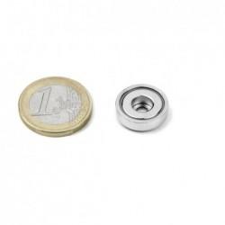 Reiällinen POT-magneetti 16x5mm