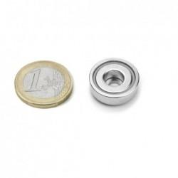 Reiällinen POT-magneetti 20x7mm