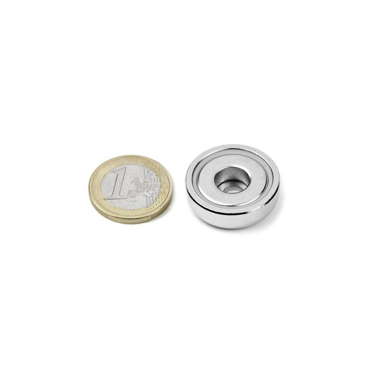 Reiällinen POT-magneetti 25x8mm