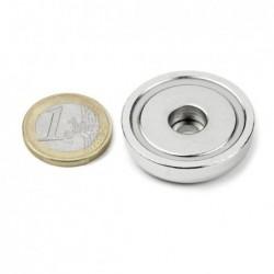 Reiällinen POT-magneetti 32x8mm