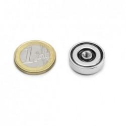 Sisäkierteinen POT-magneetti 20x6mm/M4