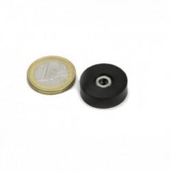 Sisäkierteinen POT magneetti (kumi) 20x6mm/M4