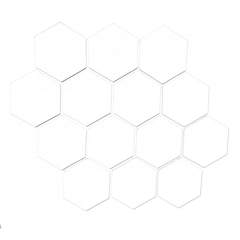 Valkoinen magneettiarkki HEX Kuusio