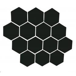 Musta magneettiarkki HEX Kuusio