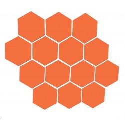 Oranssi magneettiarkki HEX Kuusio