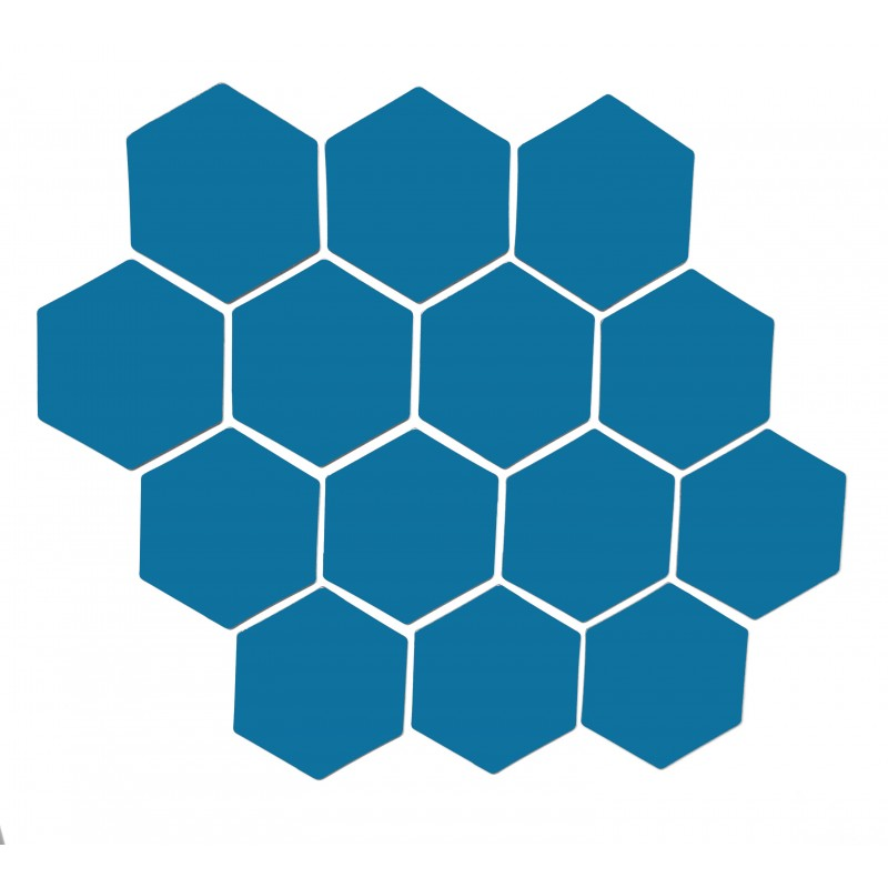 Sininen magneettiarkki HEX Kuusio