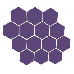 Violetti magneettiarkki HEX Kuusio