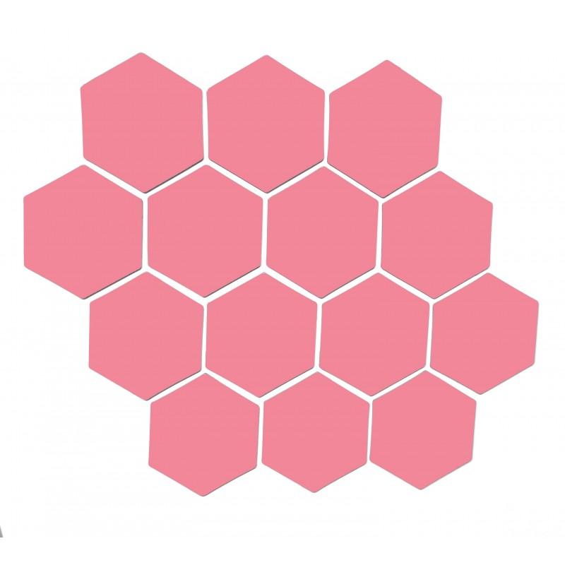Vaaleanpunainen magneettiarkki HEX Kuusio