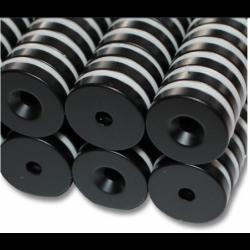 Reiällinen kiekkomagneetti 20x4mm (epoksi)