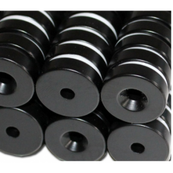 Reiällinen kiekkomagneetti 25x7mm (epoksi)