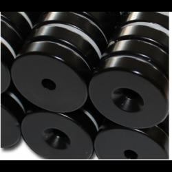 Reiällinen kiekkomagneetti 30x7mm (epoksi)