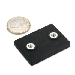 Magneettisysteemi 43x31x7mm/2xM4